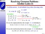 resolving grammar problems another look 3