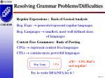 resolving grammar problems difficulties