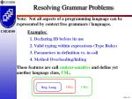 resolving grammar problems