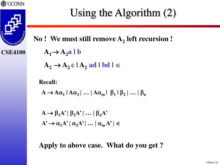Using the Algorithm (2)