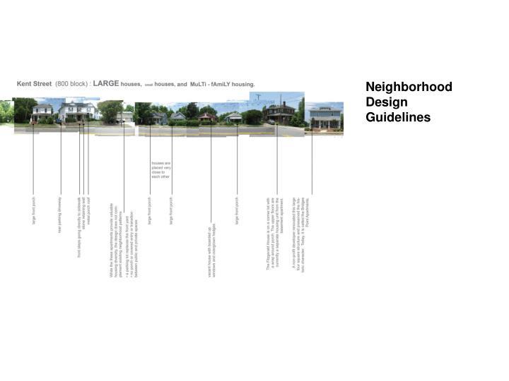 Neighborhood Design   Guidelines