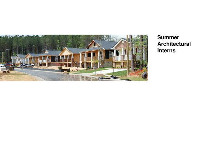 Summer Architectural Interns