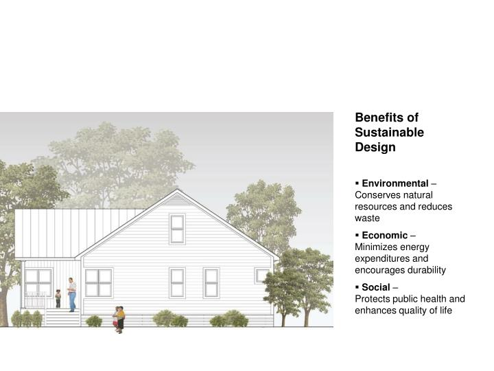 Benefits of Sustainable Design