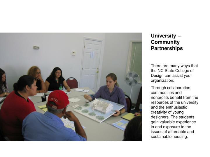 University – Community Partnerships