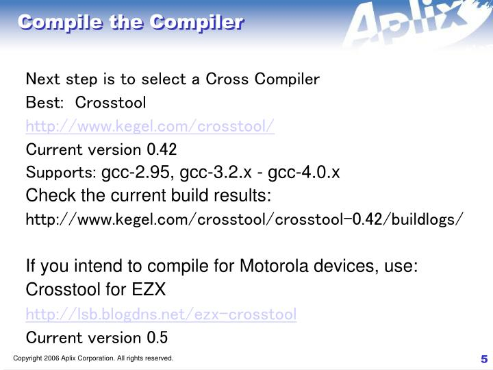 Compile the Compiler