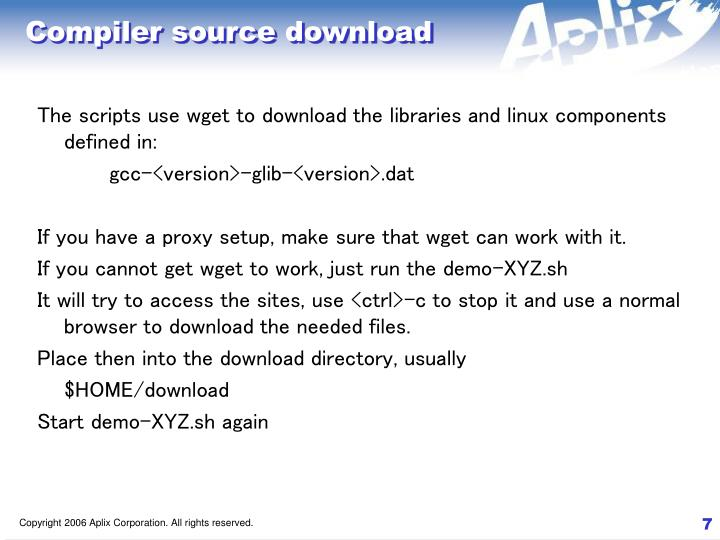Compiler source download