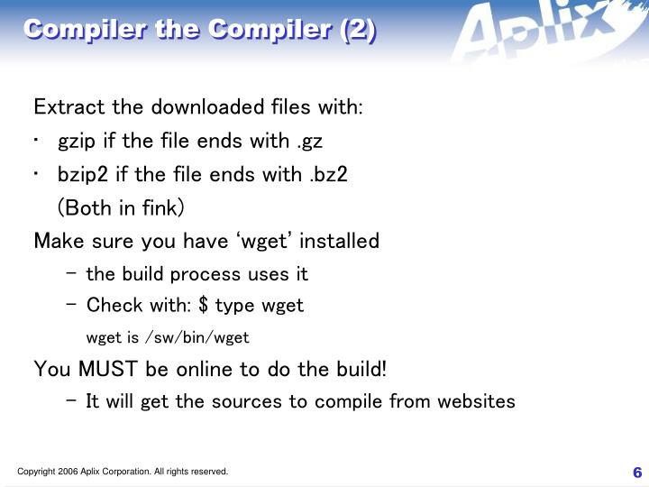 Compiler the Compiler (2)