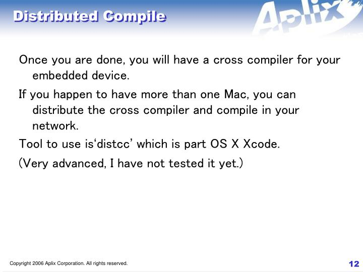 Distributed Compile