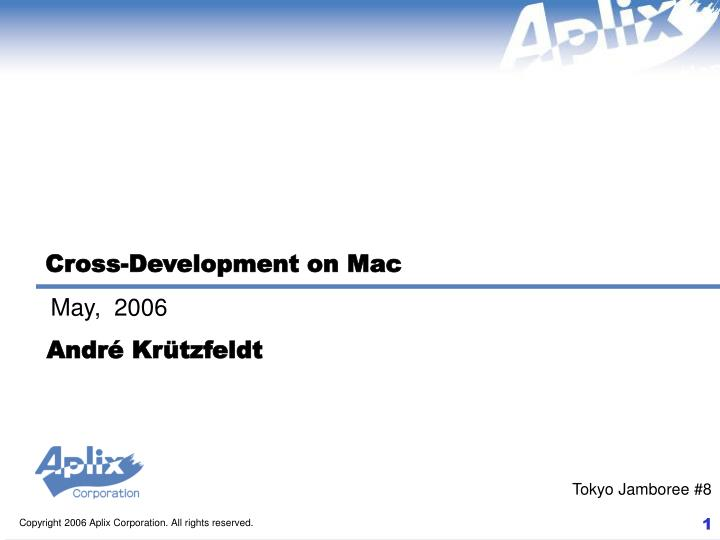 Cross-Development on Mac