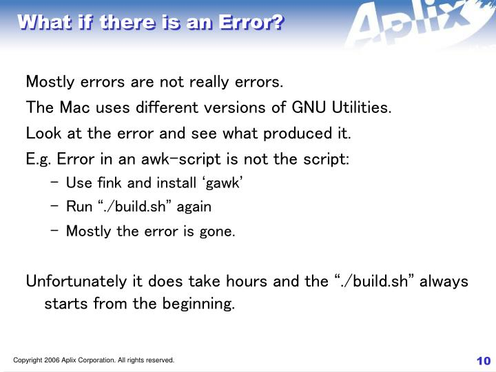 What if there is an Error?