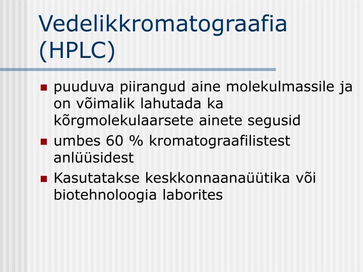 Vedelikkromatograafia (HPLC)