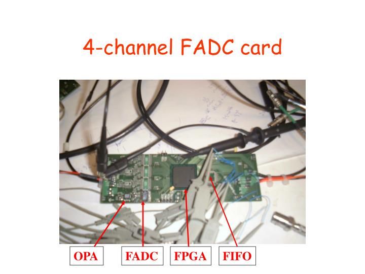 4-channel FADC card