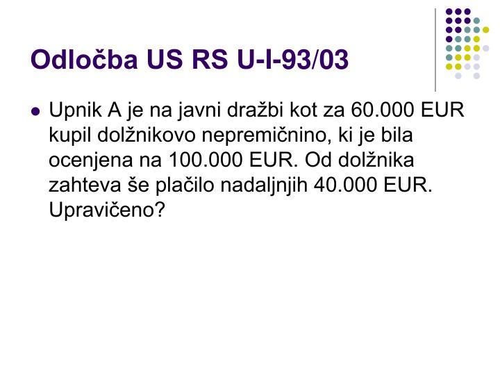 Odločba US RS U-I-93/03