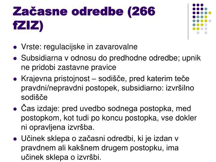 Začasne odredbe (266 fZIZ)