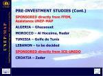 pr e investment studies cont