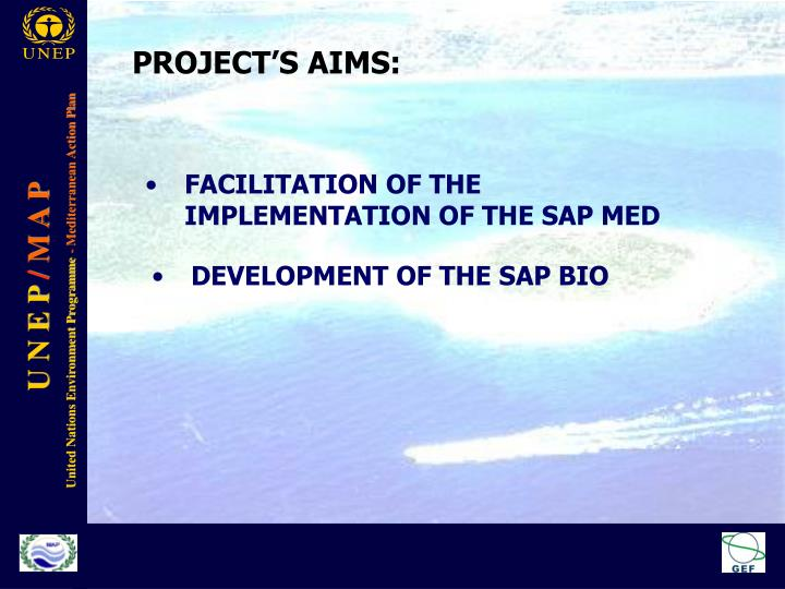 PROJECT'S AIMS: