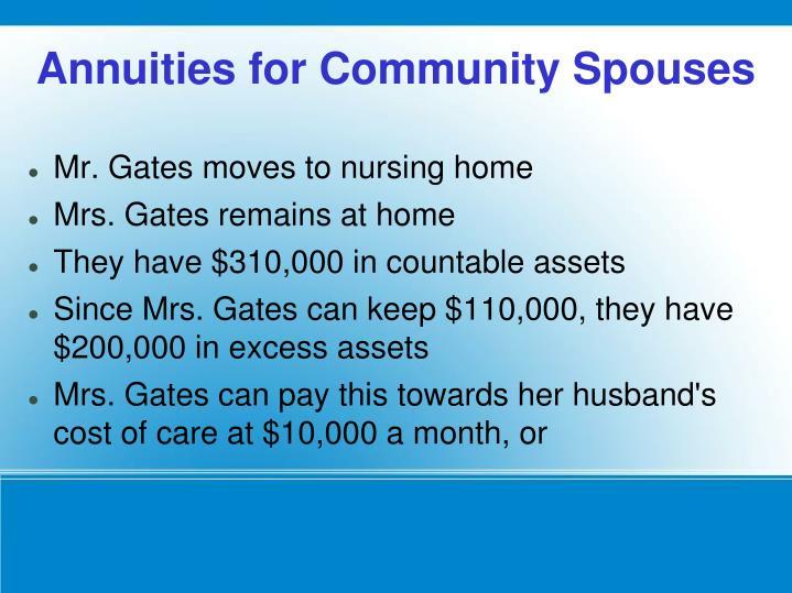 Mr. Gates moves to nursing home
