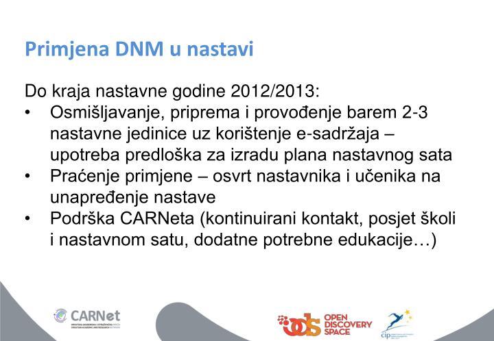 Primjena DNM u nastavi