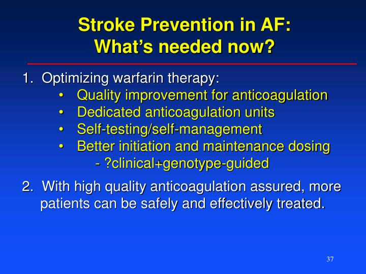 Stroke Prevention in AF: