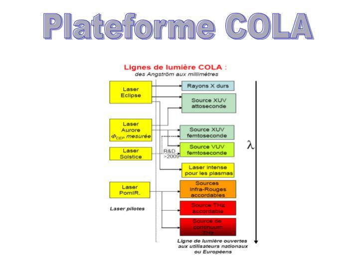 Plateforme COLA