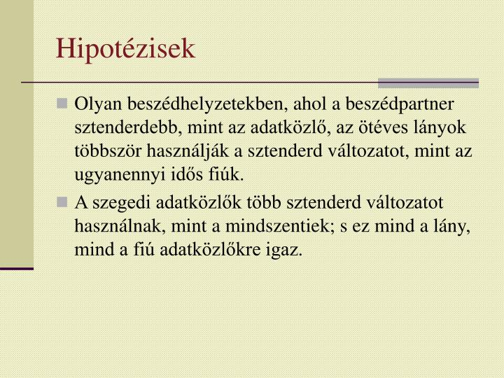 Hipotézisek