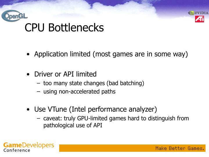 CPU Bottlenecks