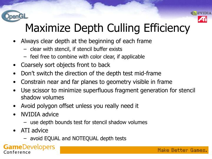 Maximize Depth Culling Efficiency