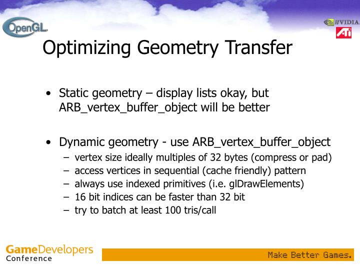 Optimizing Geometry Transfer