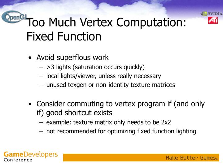 Too Much Vertex Computation: