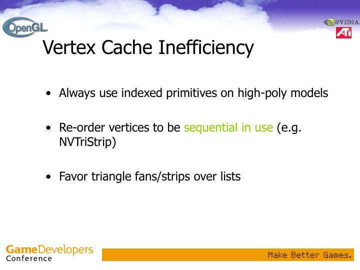 Vertex Cache Inefficiency