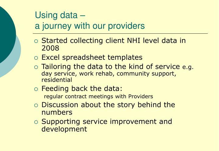 Using data –