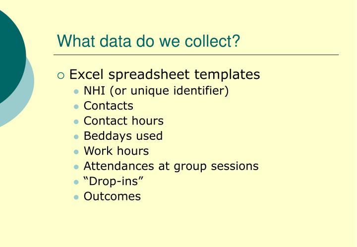 What data do we collect?
