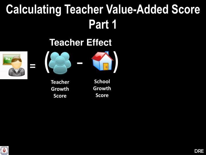 Calculating Teacher Value-Added Score