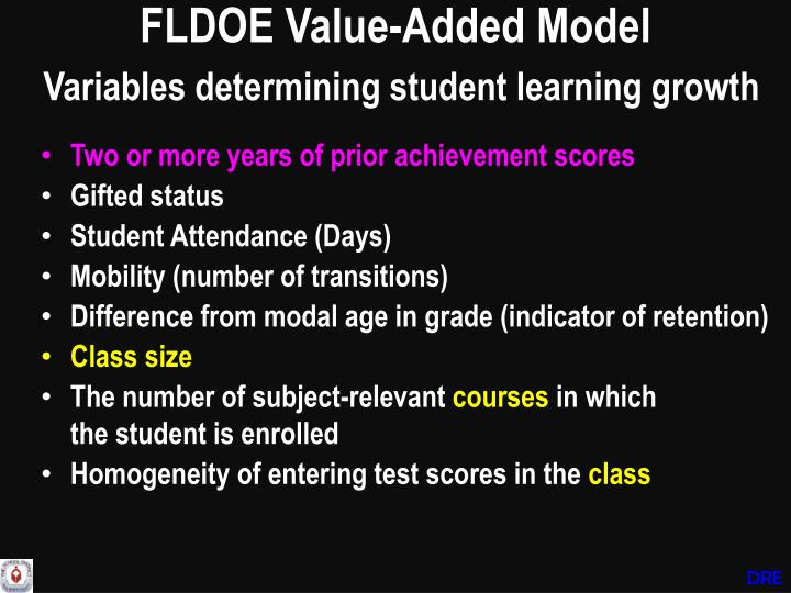 FLDOE Value-Added Model