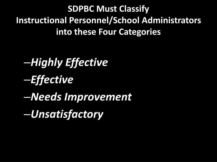 SDPBC Must Classify