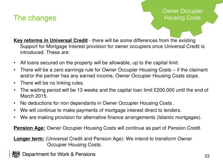 Key reforms in Universal Credit