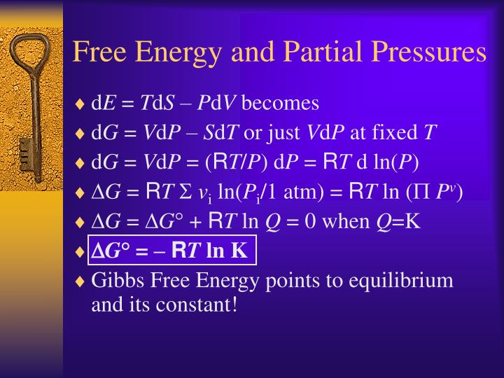 Free Energy and Partial Pressures