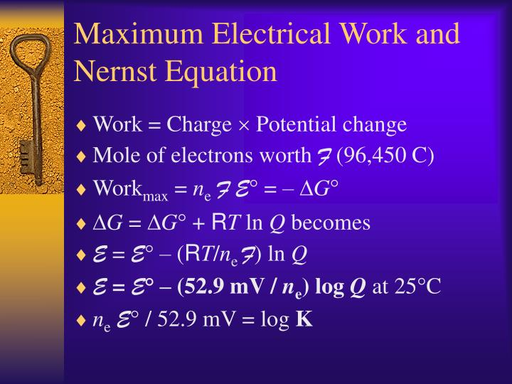 Maximum Electrical Work and