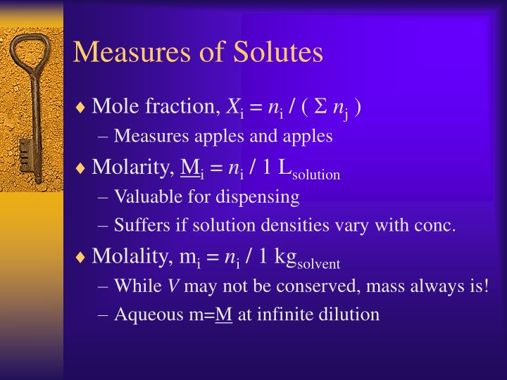 Measures of Solutes