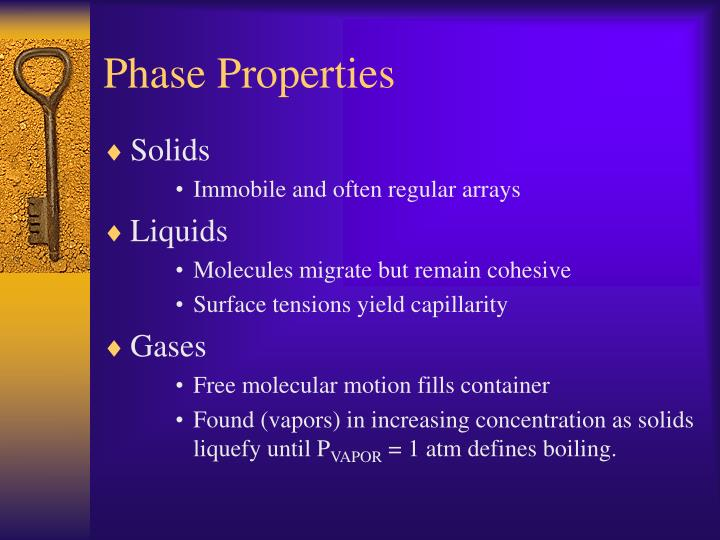 Phase Properties
