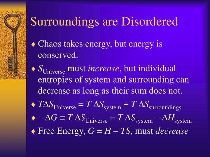 Surroundings are Disordered