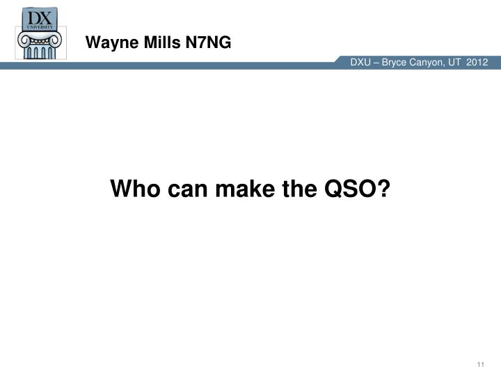 Wayne Mills N7NG
