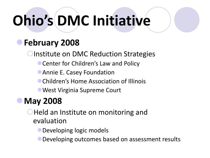 Ohio's DMC Initiative