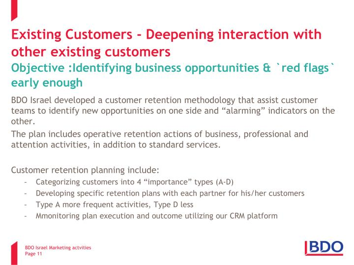 Existing Customers - Deepening interaction with other existing customers