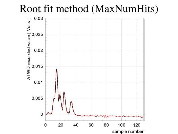 Root fit method (MaxNumHits)