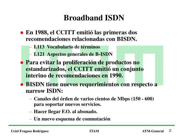 Broadband ISDN