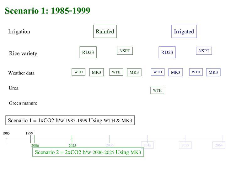 Scenario 1: 1985-1999