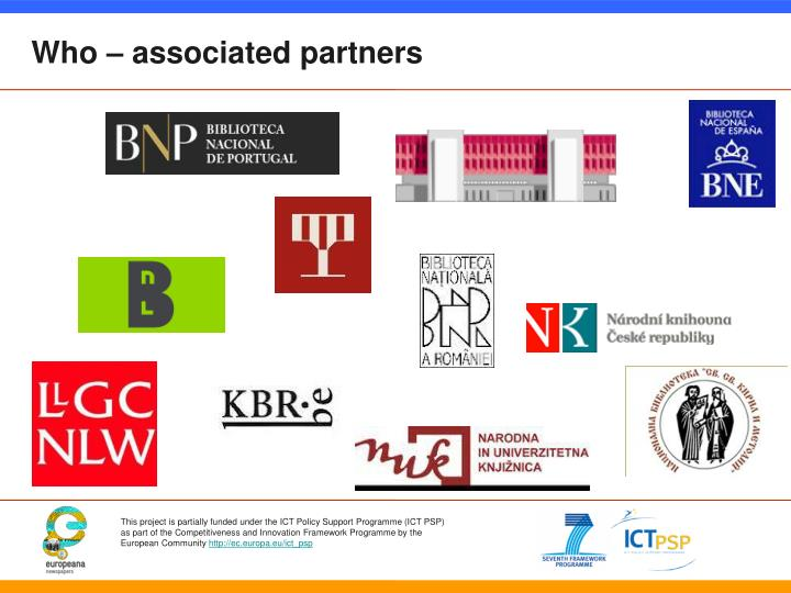 Who – associated partners