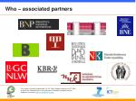 who associated partners