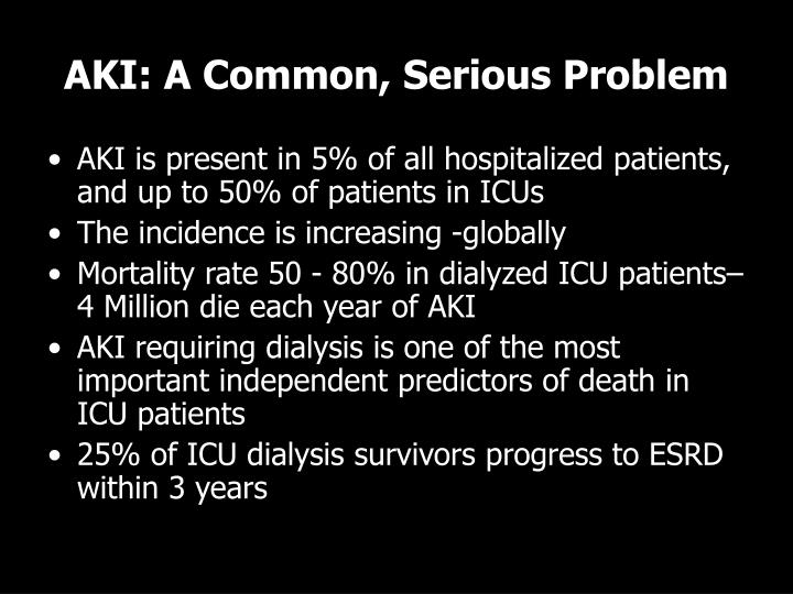 AKI: A Common, Serious Problem